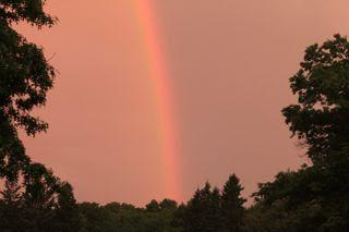 photo of sunrise rainbow