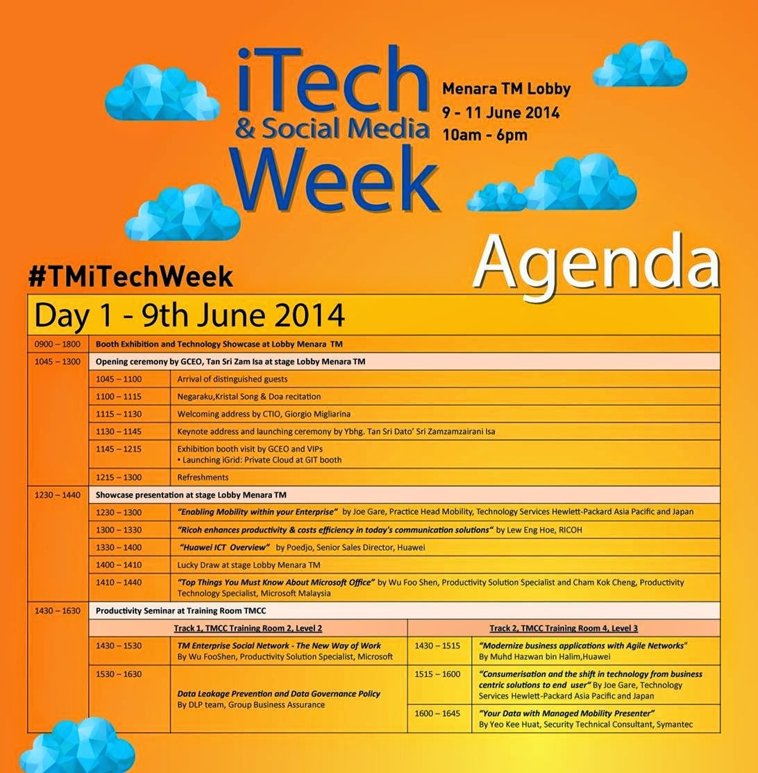 iTech & Social Media Week - Many Exciting Events Await You. Don't Miss It, Sign Up Now!