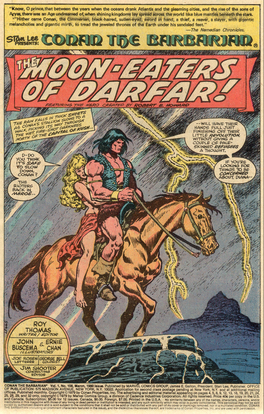 Conan the Barbarian (1970) Issue #108 #120 - English 2