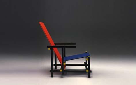 500 c la silla azul y roja de gerrit rietveld mundo ark for Silla roja y azul