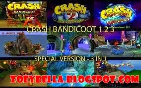Download Game PS1 Crash Bandicoot 1,2 dan 3