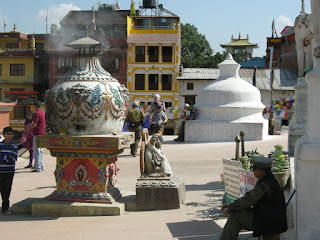 shops around Boudhanath Stupa - Kathmandu