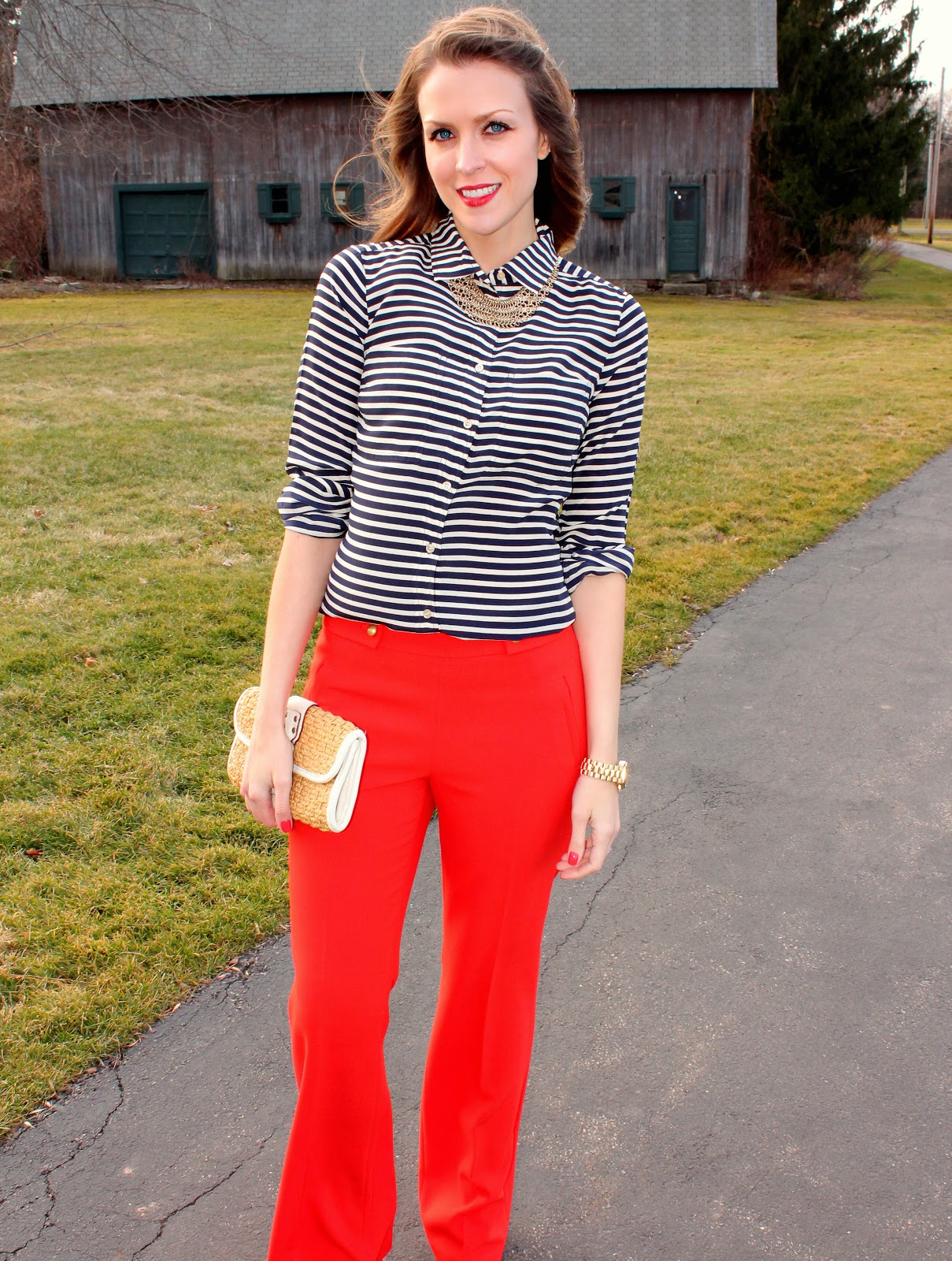 Fashion week How to pants red wear in spring for girls
