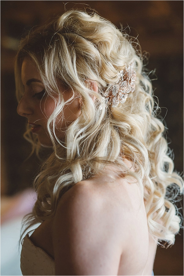 Bride with romantic curls