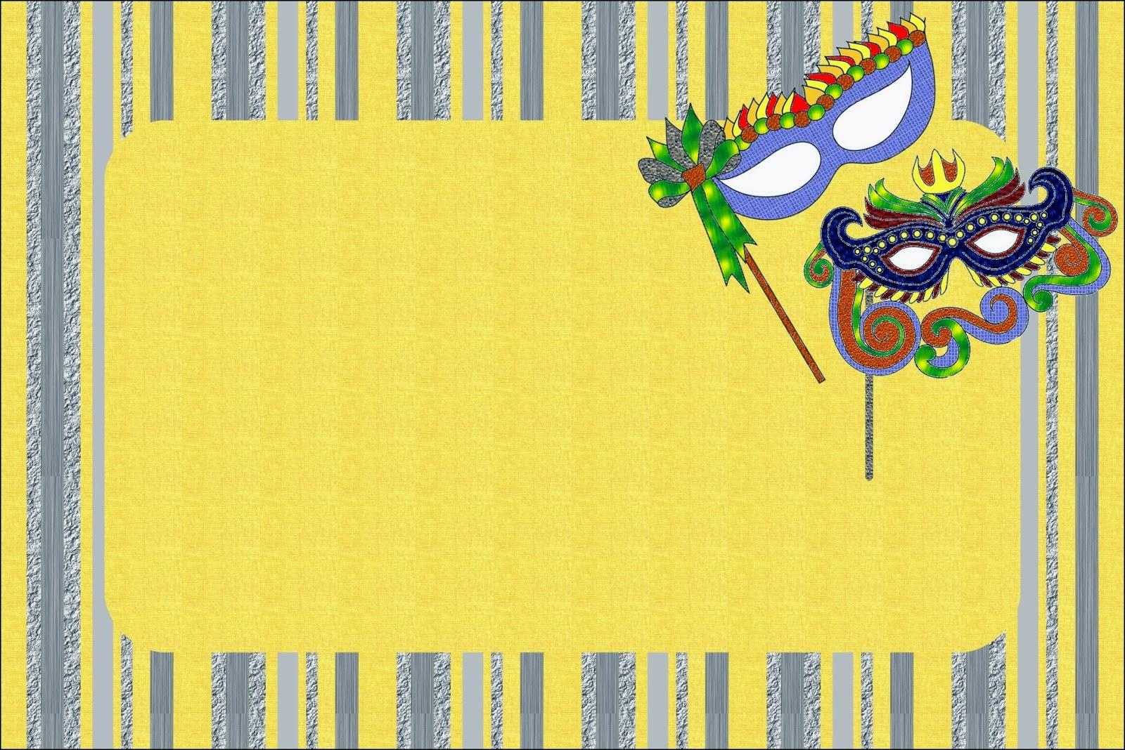 Máscaras de Carnaval: Invitaciones para Imprimir Gratis. | Ideas y ...