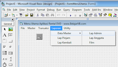 Cara Membuat Laporan Admin Aplikasi DVD VB 6.0 Database MySQL