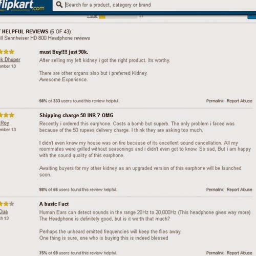 Hilarious Reviews on Flipkart: Day 43 of 100 Happy Days Challenge
