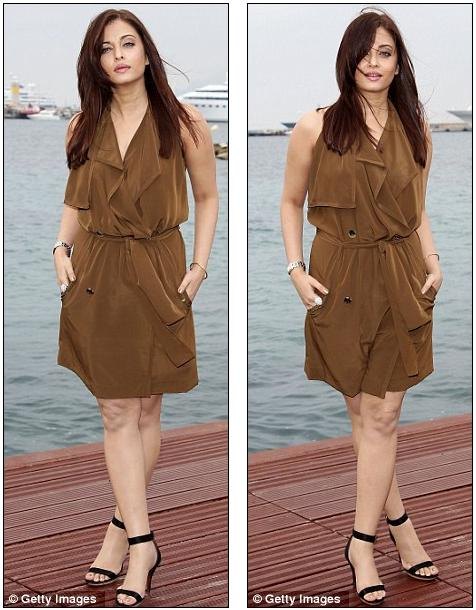 Bollywood beauty Aishwarya Rai keeps it simple in pretty brown dress at Cannes