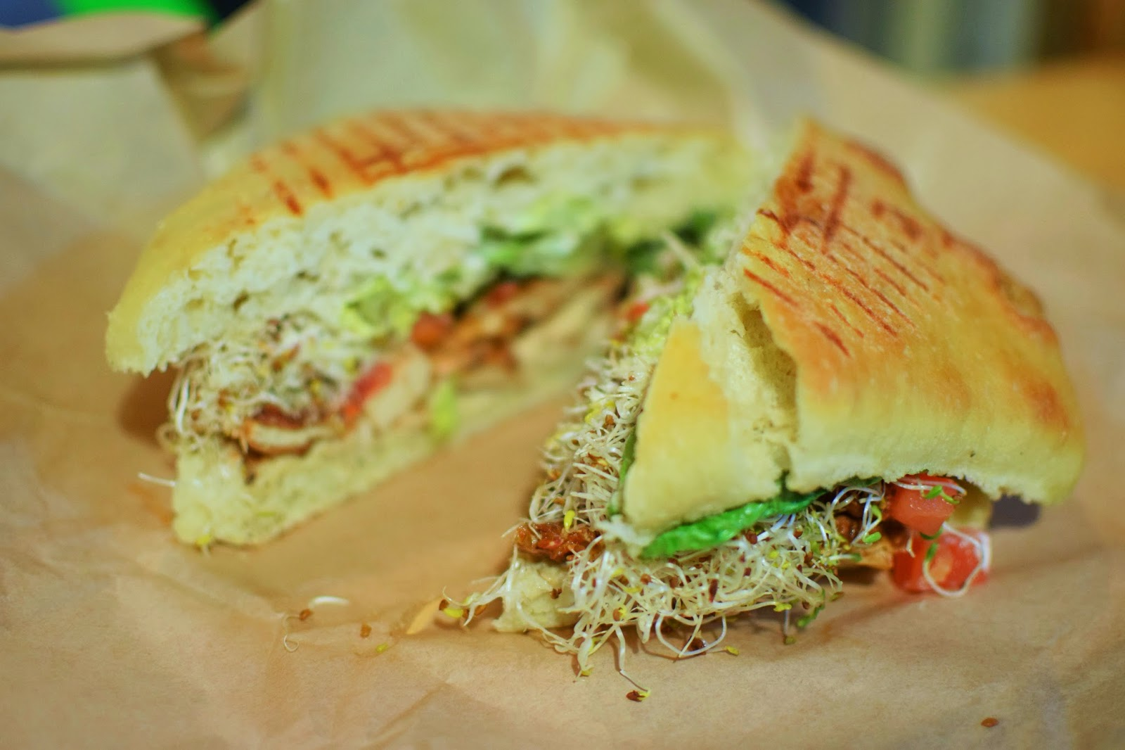BBQ tofu sandwich from Urban Herbivore Toronto