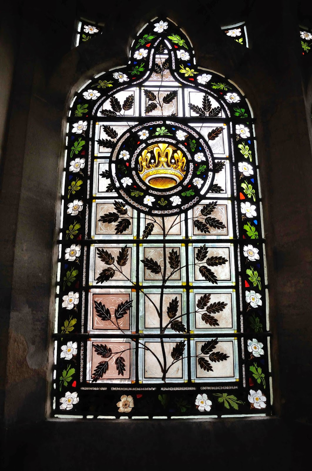 Stained glass in the family chapel