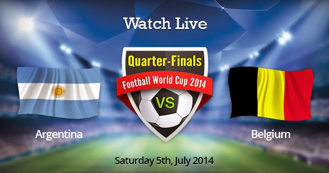 Get ready football fans for Argentina will take on Belgium for the third quarter-finals of the FIFA 2014 World Cup at Estadio Nacional de Brasilia in Brasilia on Saturday, July 5, 2014.