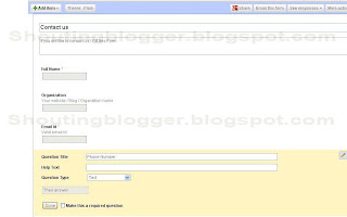 how to Add contact us Form blogger