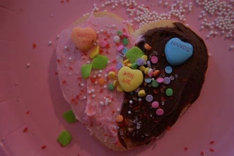 Milk And Cookies Valentine Playdate decorated cookie