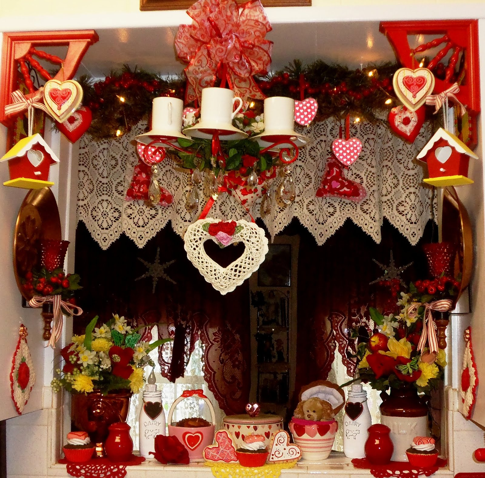 Valentine Decor in the Kitchen, 2016