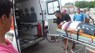 Jovem de Picuí sofre acidente em motocicleta no Centro de Nova Floresta