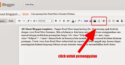 Cara pasang Auto Read More Otomatis #Terbaru