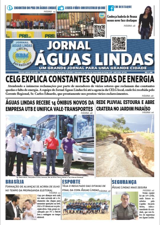 edição 210 do Jornal Águas Lindas