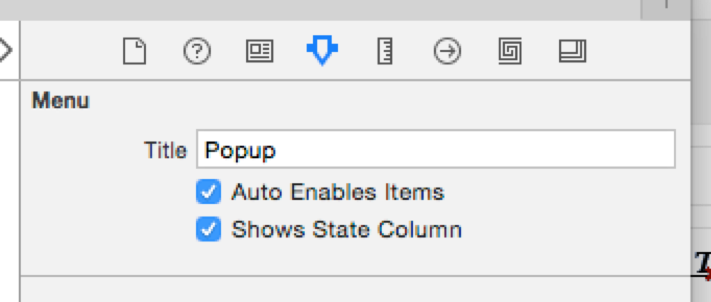 Next Connect The Menu To View By Assigning Delegate And Outlet Via Drag Drop Select
