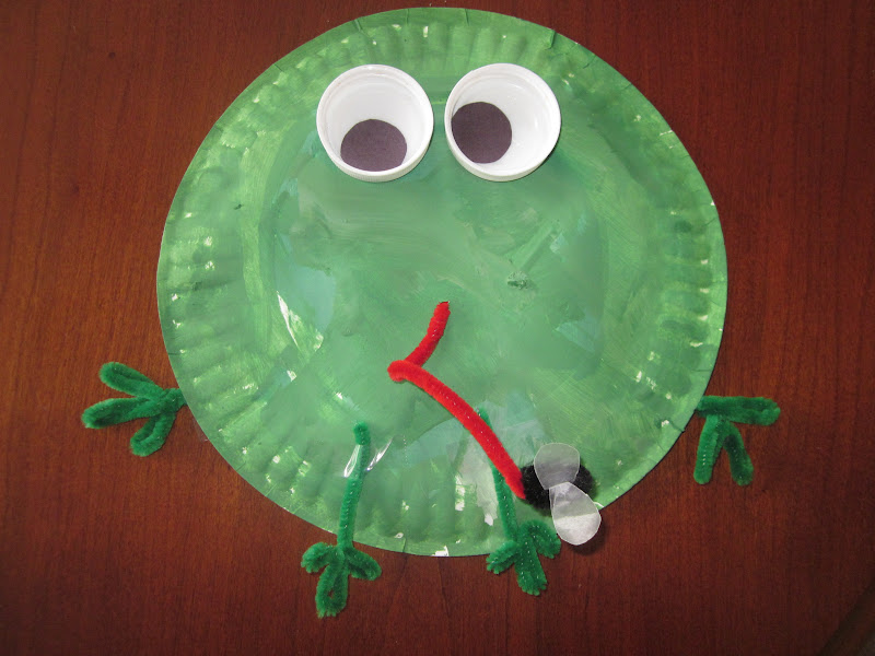Paper Plate Frog with a Fly by Logan Age 2 1/2 & Because I Said So (and Other Mommyisms): Frog with a Fly Craft