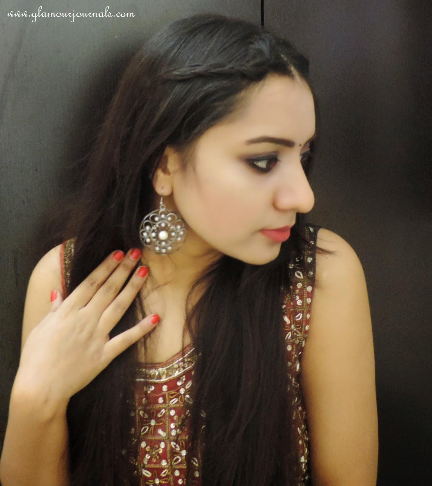 Deepika Padukone Inspired Look From Ram Leela Indian Makeup Outfit