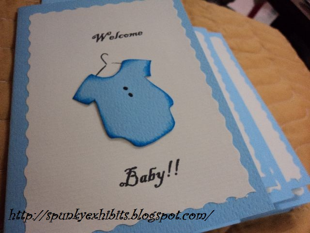 so here is a very simple baby boy birth announcement card i made 50 of these and they were sent to family and friends near and far