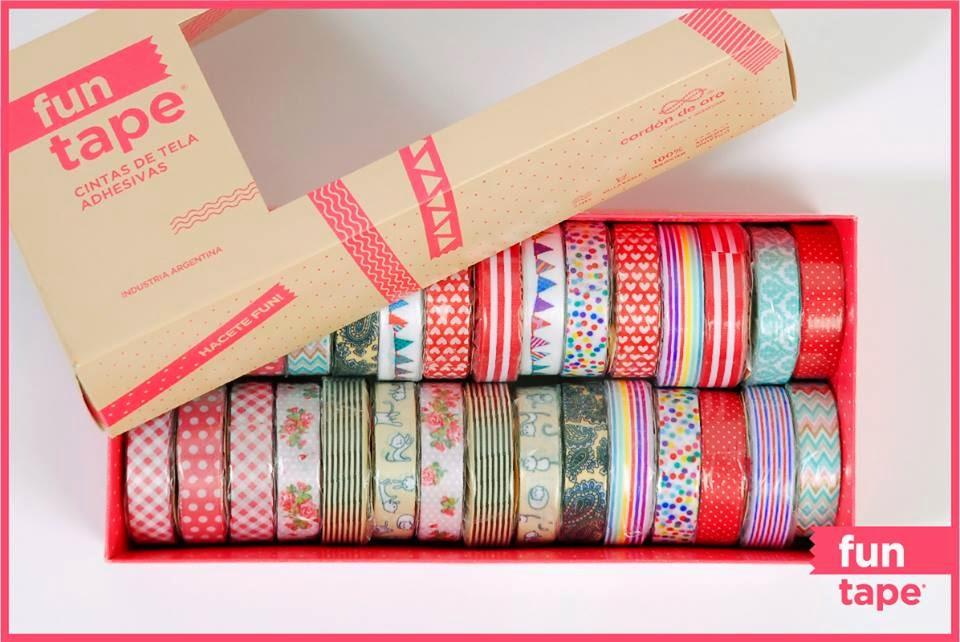 cintas adhesivas de tela fun tape caja maravillosa