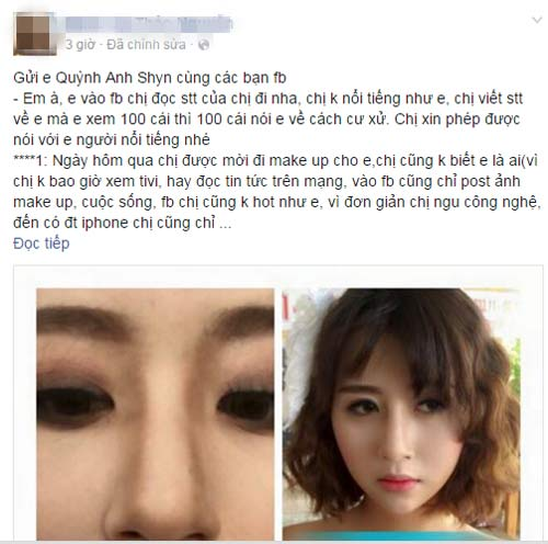 """Status """"tố"""" Quỳnh Anh Shyn kênh kiệu, õng ẹo trong buổi chụp hình"""