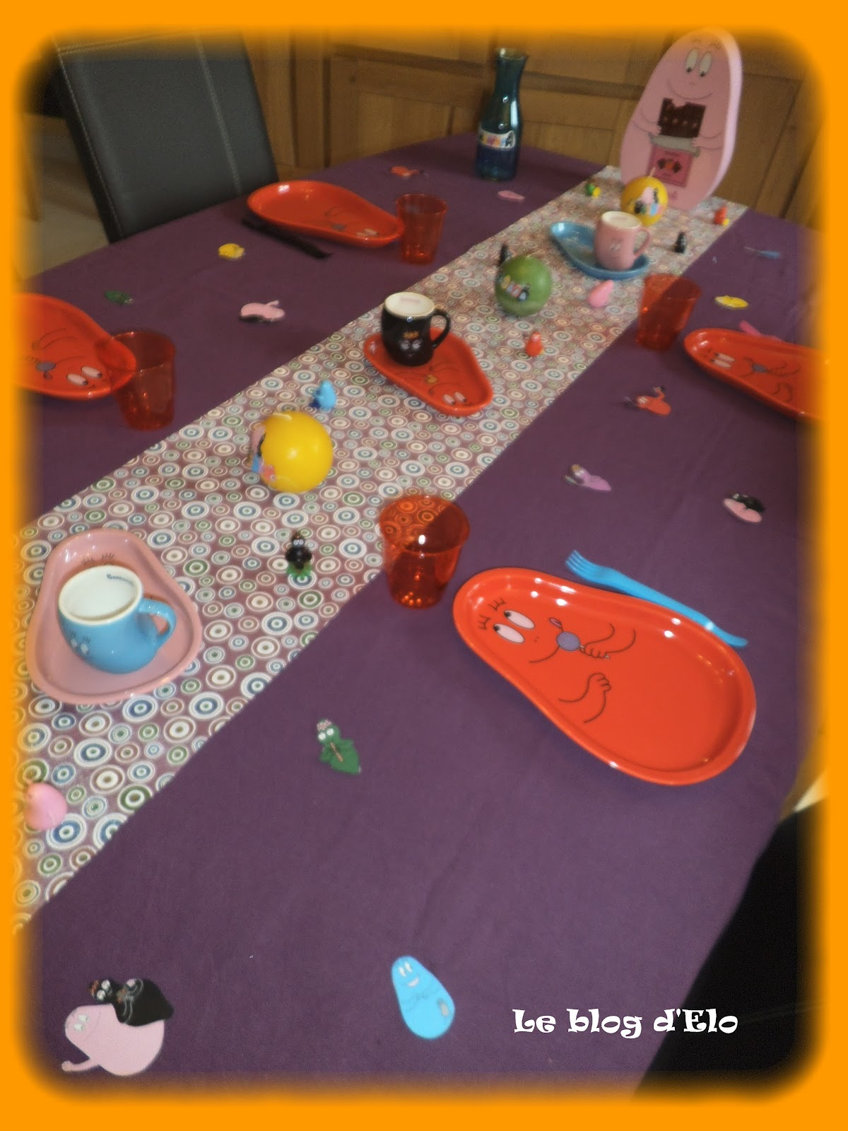 Le blog d 39 elo d co de table barbapapa - Ordinateur barbapapa ...