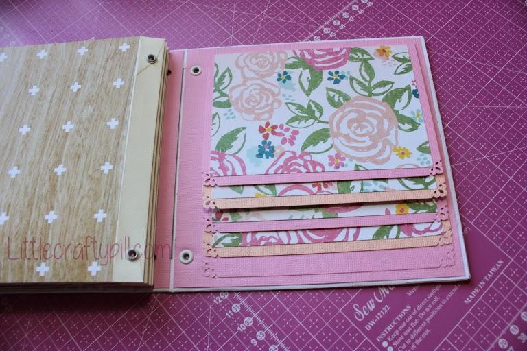 Little crafty pill c mo hacer un mini lbum de sobres con - Decoracion de album de fotos ...