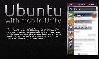 Ubuntu Unity Mobile Concepts