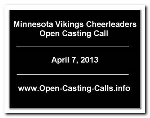 Minnesota Vikings Cheerleaders Tryouts 2013