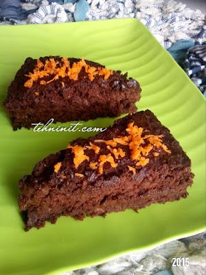 Cake Cokelat Wortel Oatmeal