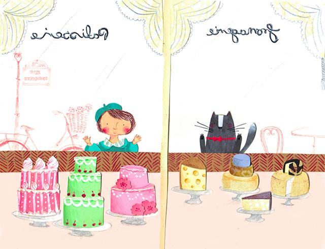 cake shop illustration