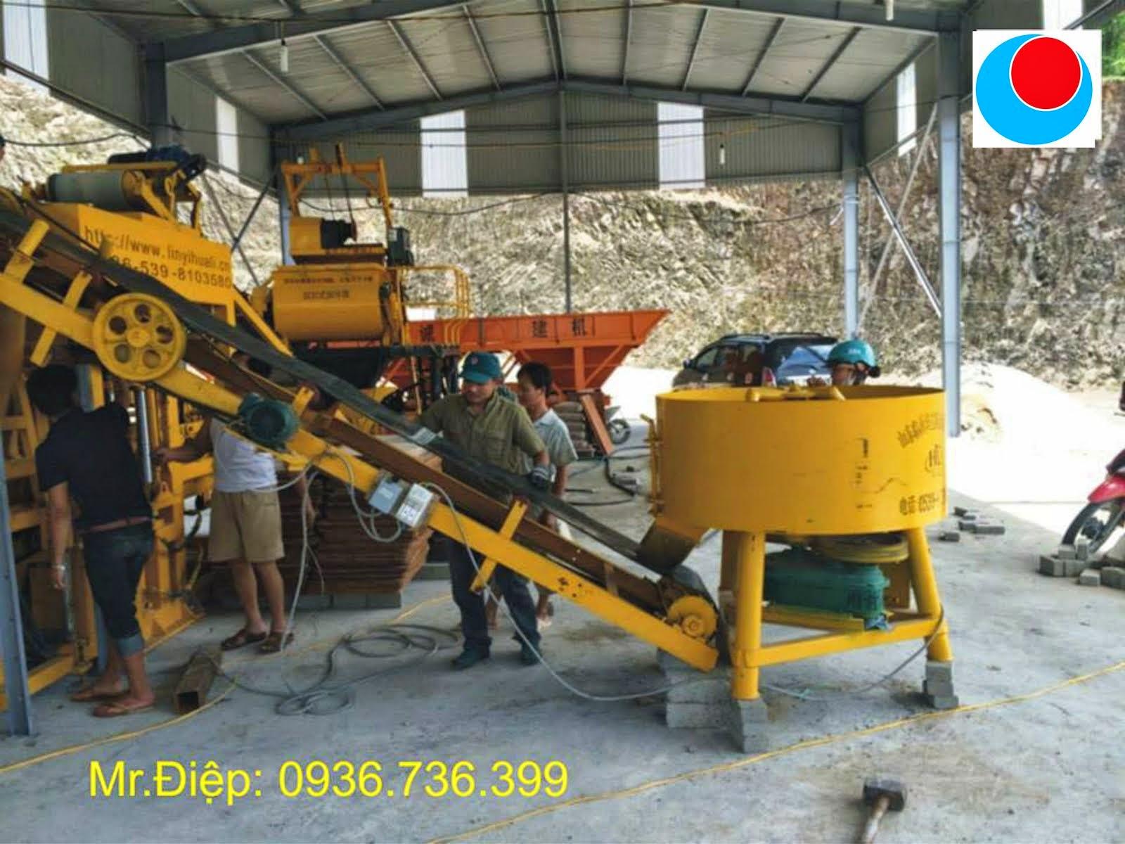 Máy sản xuất gạch xi măng cốt liệu