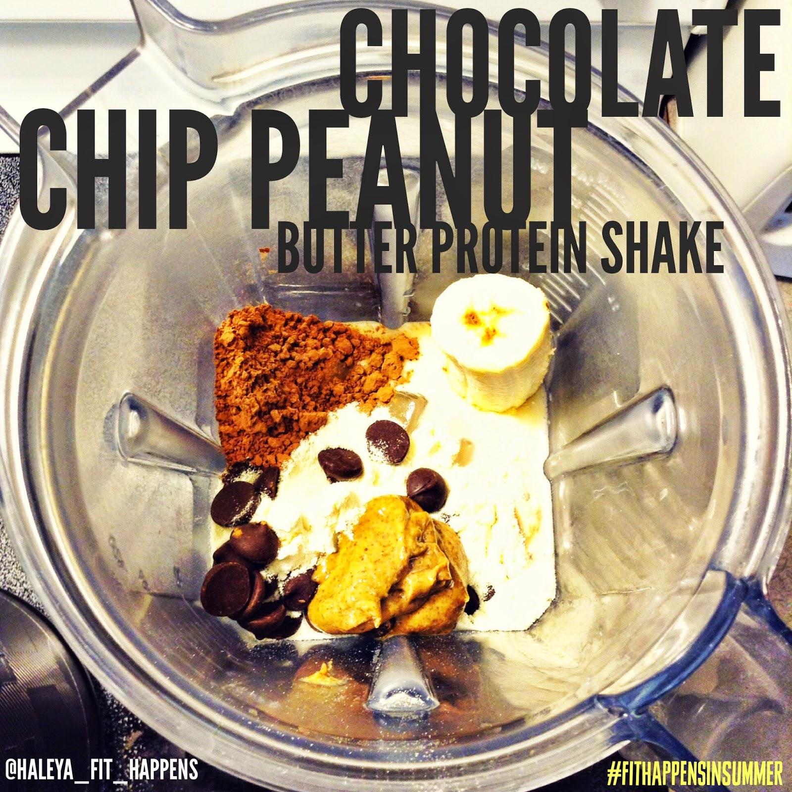Chocolate chip protein shake
