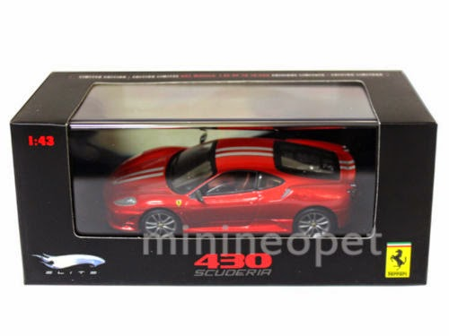 HOT WHEELS ELITE N5950 FERRARI 430 SCUDERIA 1/43 DIECAST RED