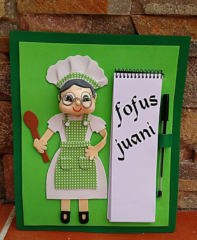 Juani Manualidades: Libretas Cuadros Para La Cocina