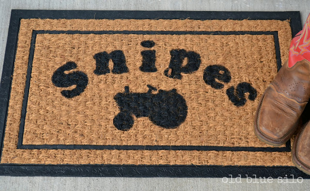 Customized Front Door Mat with Tractor