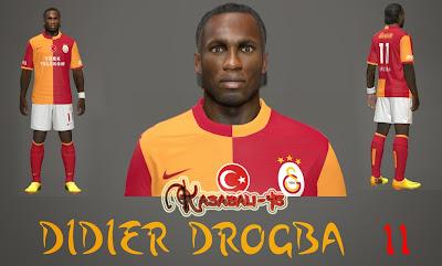 PES 2014 Drogba Face by Kasabali45