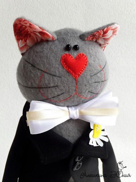 Кот жених - авторская игрушка