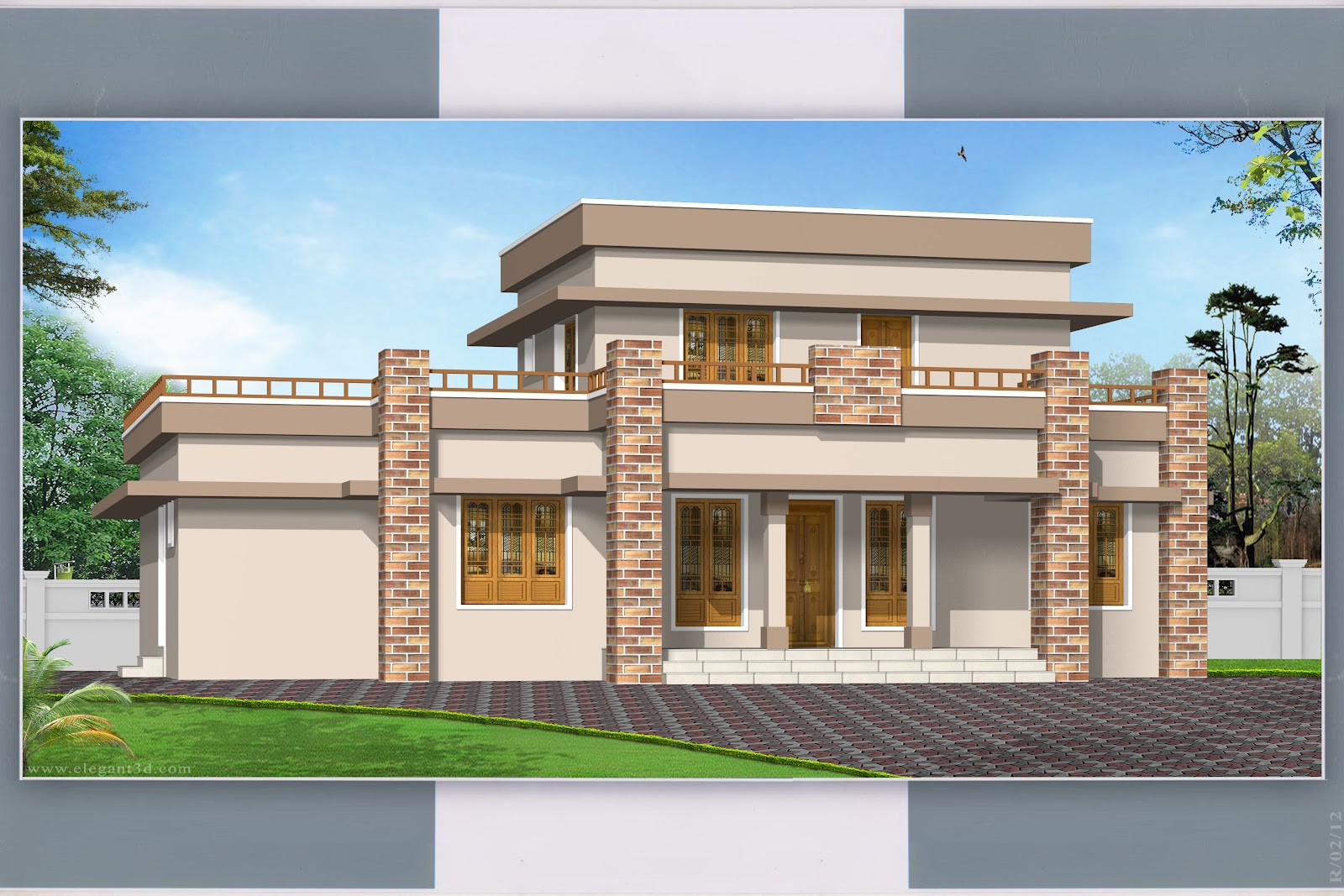 Pillar beuatie 1630 sqft engineering dairy for Home design images