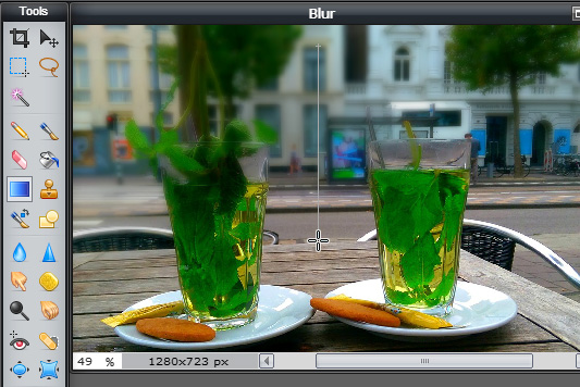 How to apply a blur filter to a background image