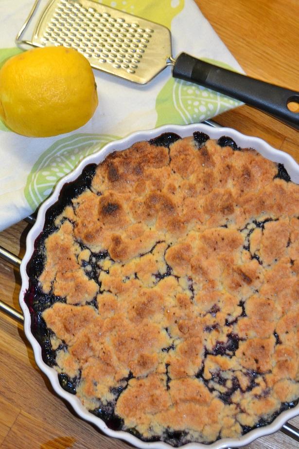 knäckig blåbärspaj recept