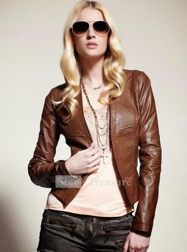 Yeni Moda Bayan Deri Ceket Modelleri