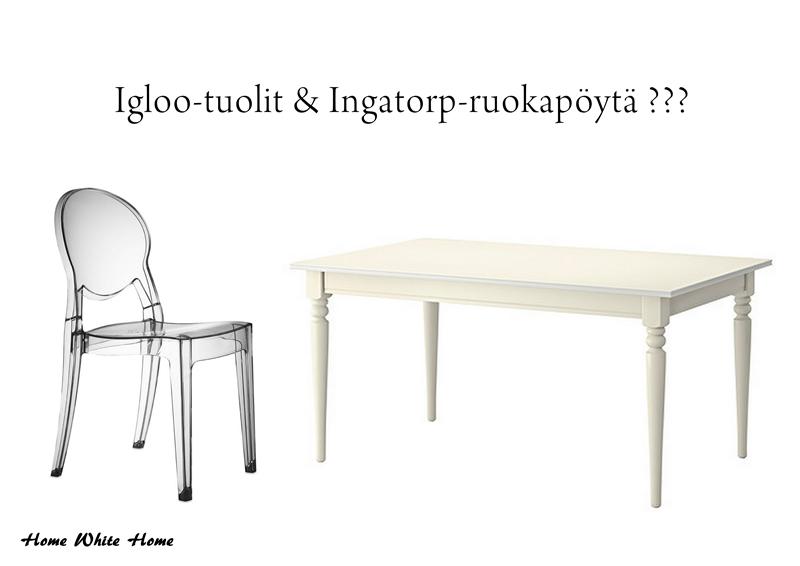 Home White Home Ikean Ingatorp ruokapöytä meille?