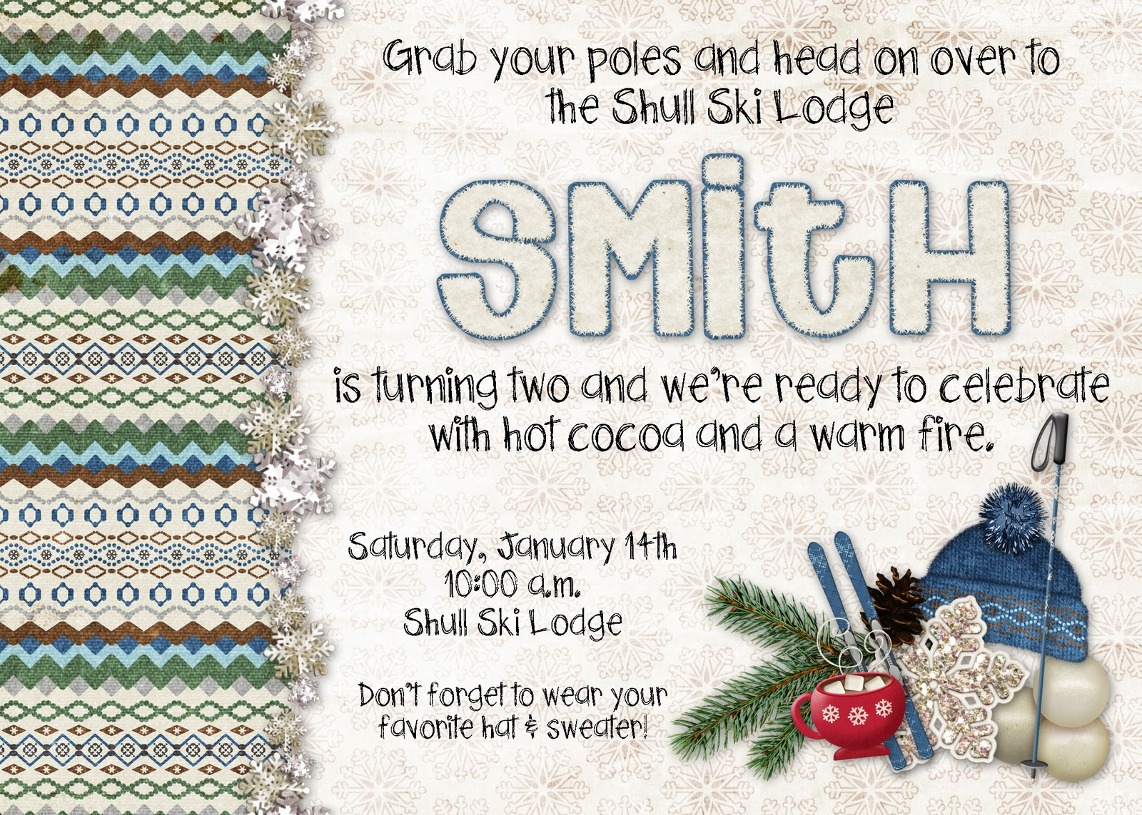 Smiths Ski Lodge Mix and Match Mama