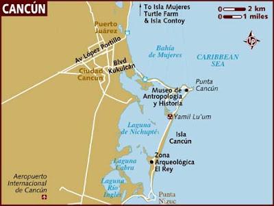 Cancún Mapa Político Región