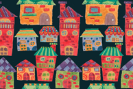 The Colorful Houses Pattern by Haidi Shabrina