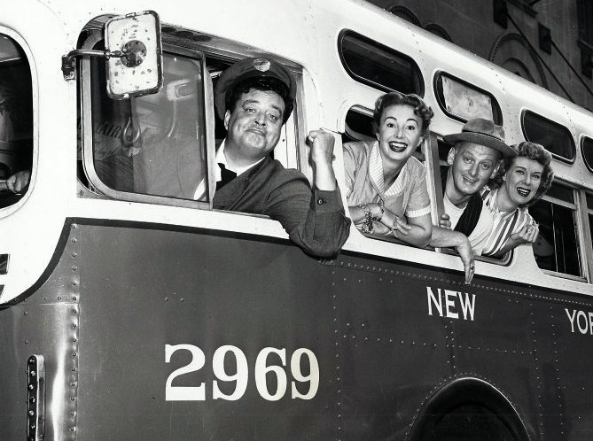 The Honeymooners. Ralph Kramden Alice Trixie and Ed Norton
