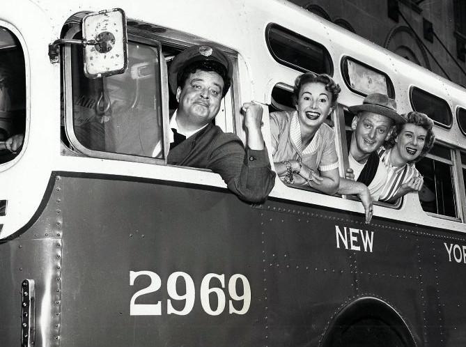 The Honeymooners. Ralph Kramden Alice Trixie and Ed Norton